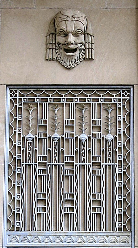 metal grate in the art deco style