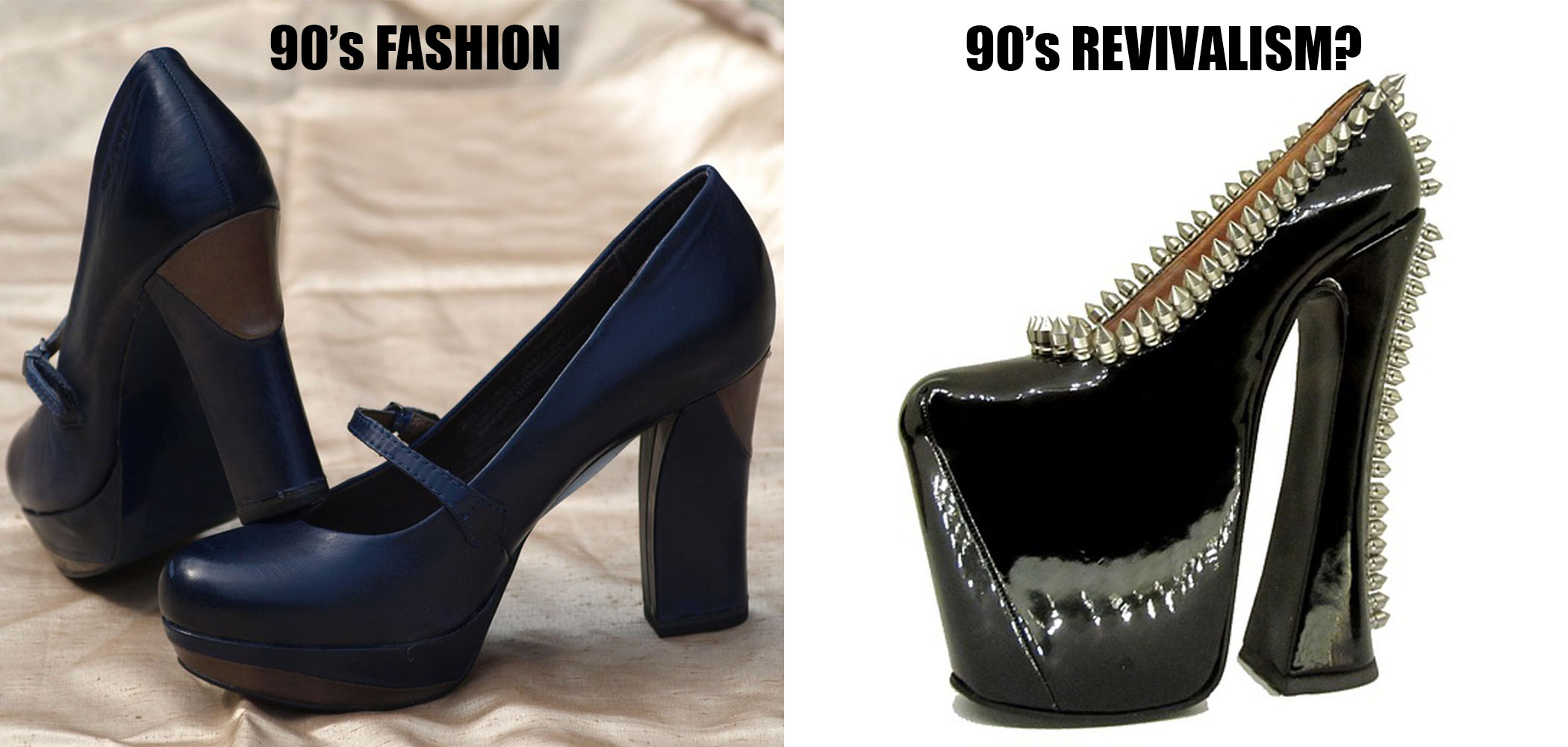 meme of fashionable shoes and a revived style