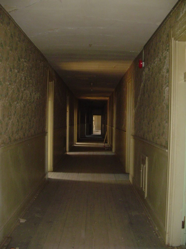 Old rundown hallway