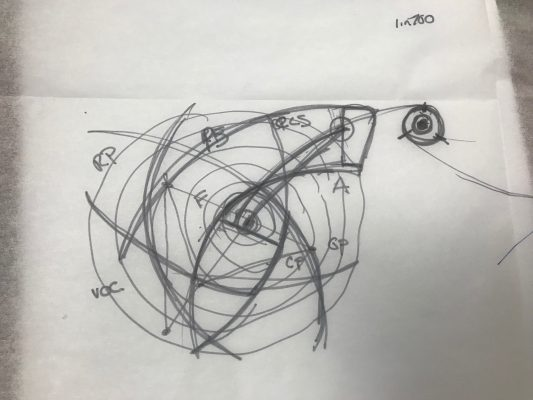 sketch of new project working with the idea of centrifugal/centripetal forces