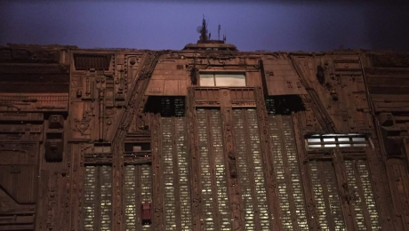 Miniature of the Tyrell Skyscraper used in Blade Runner