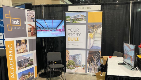 trade show booth for MSB Architects
