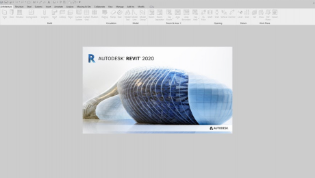 Screen shot of Revit logo as the program opens