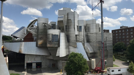 exterior of the Weisman Art Museum