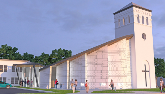 exterior rendering of New Light Lutheran Church in Dundalk, MD