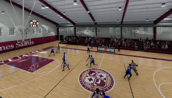 rendering of Saint James School Athletic Center