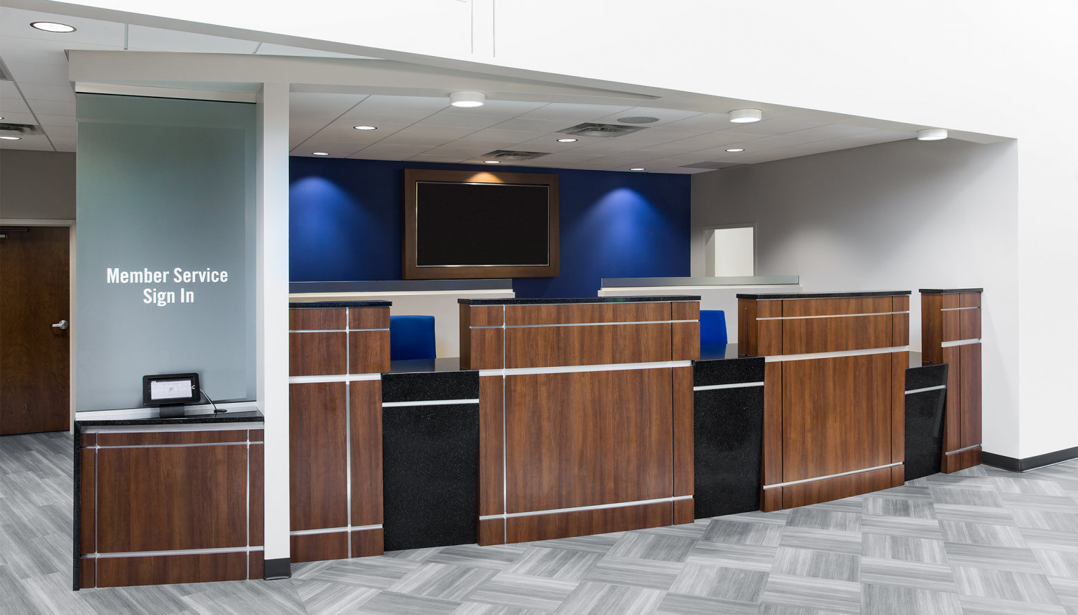 teller area of Patriot Federal Credit Union in Hagerstown, MD